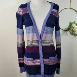 Urban Outfitters Purple Striped Cardigan